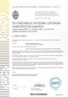 ES certifikát MED 210022 INDAP INSUF
