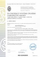 ES certifikát MED 210015 magnetoterapie