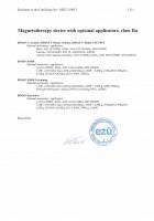EC certificate MED 210015 magnetotherapy - enclosure