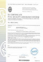 EC certificate MED 210015 magnetotherapy